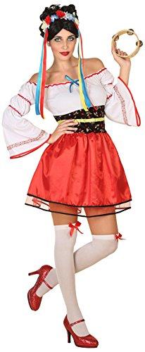 Atosa-38764 Disfraz Ucraniana Color Rojo M-L (38764
