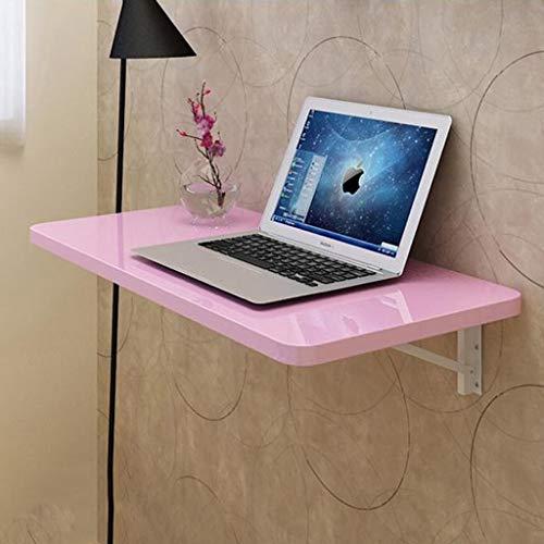 SjYsXm-wall table Kleine Wohnung Klavierlack Rosa Klapp Computertisch Desktop Laptop Schreibtisch Trennwand Regal Wandhalterung Wandtisch mit verstärkter Klapphalterung (größe : 60 * 35cm) (Rosa Laptop-computer Mit Dvd)
