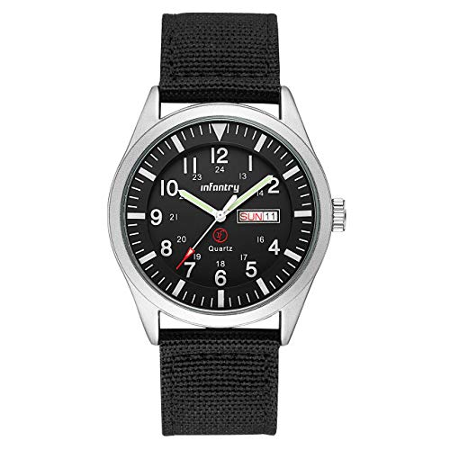 Infantry Herren Uhr Armbanduhr Männer Uhren Militär Schwarz Herrenuhr Herrenarmbanduhr Tactical Watch Outdoor Männeruhr Nylonband