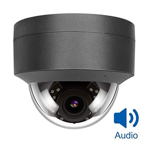 5MP HD POE IP Kamera Outdoor, IP Überwachungskamera 108° weiter Betrachtungswinkel IR Nachtsicht wasserdicht,with Microphone, Audio,Bewegungserkennung Support Onvif Hikvision kompatibel-D250G-S