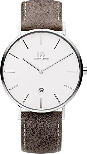 Danish Design Mens Analogue Classic Quartz Watch with Leather Strap DZ120701