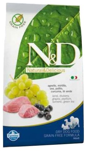Farmina (Russo Mangimi) - Natural & Delicious Grain Free Adult Maxi con Agnello e Mirtillo Sacco 12,50 kg