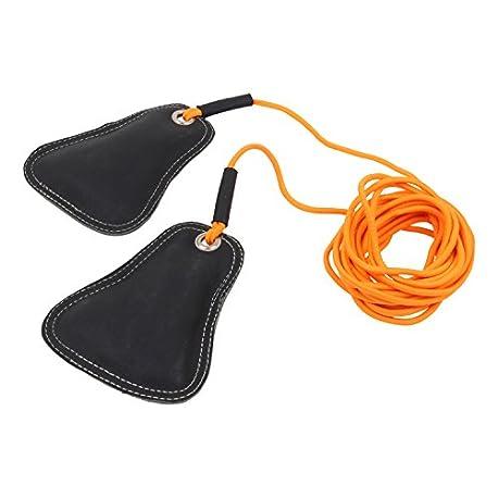 Cuerda el stica con bolsitas de arena para el salto de altura entrenamiento