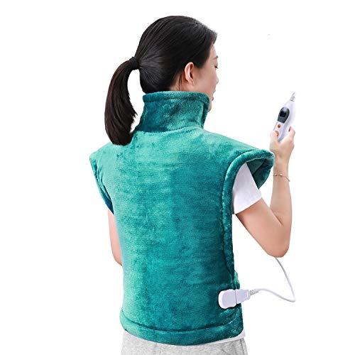 MaxKare 60 x 90 cm Heizkissen für Rücken Schulter Nacken Abschaltautomatik Wärmekissen und Schneller Heiztechnologie für Entlastung von Rücken und Schultern Heizdecke aus Angenehmem Flanellmaterial (Micro-flanell-decke)