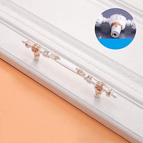 6PCS Fach-Diamant-Einzelnes Loch-Zink-Legierungs-Griff 36.8/96 / 128mm, Möbel-Garderobenschrank-Hardware-Moderner Schlafzimmer-Griff,128