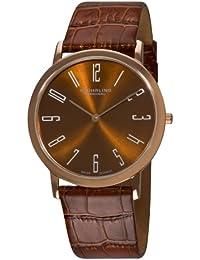 Stuhrling Original 216A.3345K59 - Reloj para hombres, correa de cuero color marrón