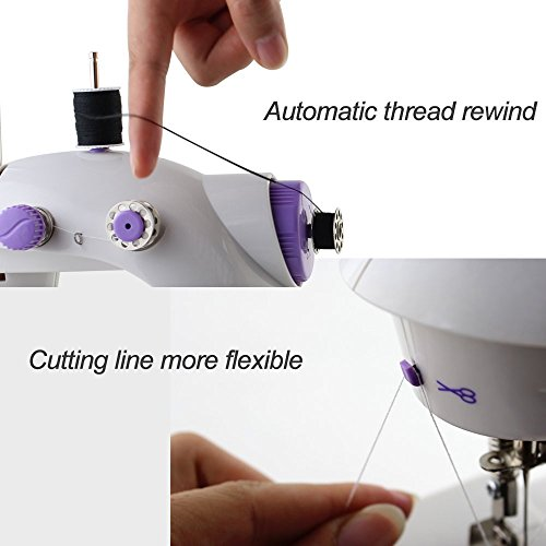 Sewing Machine, TopDiscover Portable Mini Nähmaschinen 2-Speed with Light + 4 Bobbins - 6
