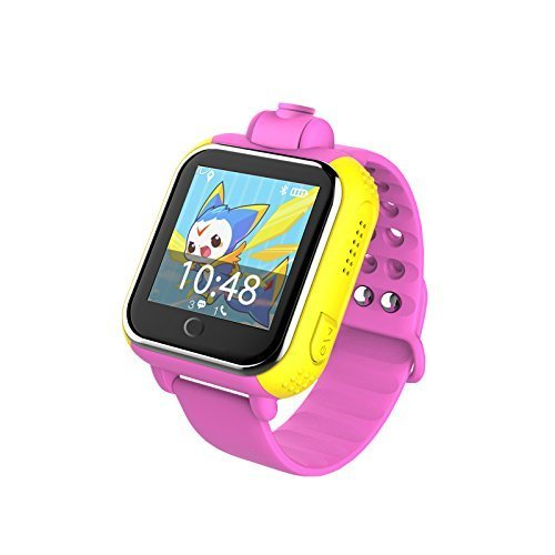 Life Like Q730 Kids Wristwatch Support SIM Card 3G GPRS GPS Locator Tracker Anti-Lost Smartwatch with Camera for All Smartphones (Pink)