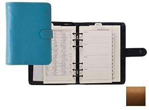 Raika SF 201 TAN six anneaux Planner Wallet Agenda - Tan