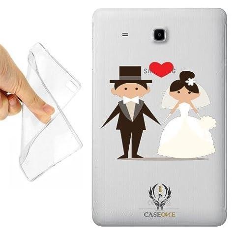 CUSTODIA COVER CASE WEDDING DAY PER TAB E T560 TRASPARENTE