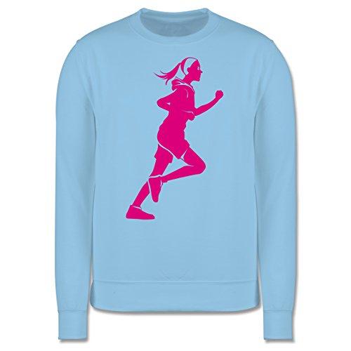 Laufsport - Läuferin - Herren Premium Pullover Hellblau