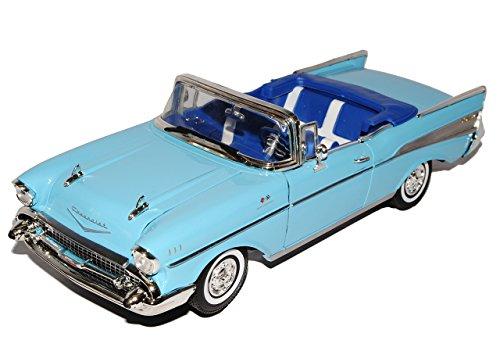 Chevrolet Chevy Bel Air 1957 Cabrio Blau Oldtimer 1/18 Motormax Modellauto Modell Auto