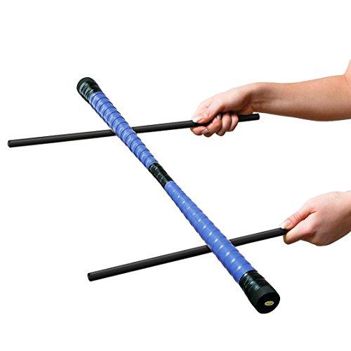 Sport-Thieme Devil-Stick-Set   Robuster Einsteiger-Devilstick inkl. 2 gummierter Handstäbe   Stabiler Holzkern, Deko-Textilband, Kunstoffkappen   Länge 60 cm   280 g   Markenqualität Stick-set