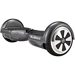 """Megawheels 6.5"""" Hoverboard Monopatín Eléctrico Patinete Eléctrico Scooter con Bluetooth y LED (Carbone Nero)"""