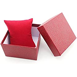 Gift Box Case - TOOGOO(R)Fashion Girl's Present Gift Box Case Earrings Bracelet Bangle Jewelry Watch Box Red Litchi Textured