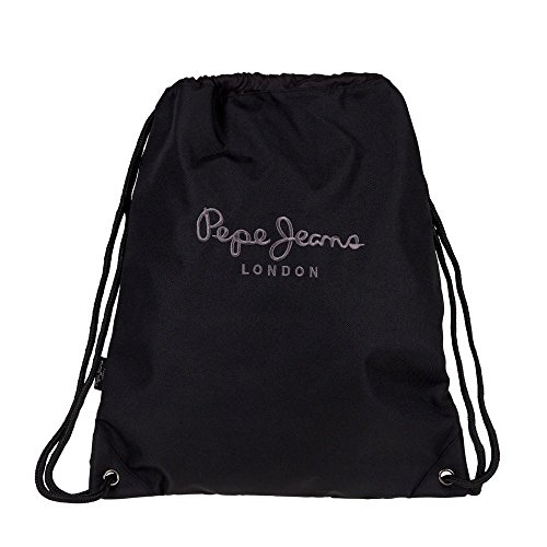 Pepe Jeans Plain Color Mochila Tipo Casual, 1.54 Litros, Color Negro
