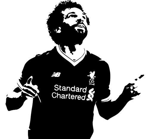 Wandtattoo Mohamed Salah Fußballer Vinyl Aufkleber Wandbild Liverpool Fußball Tapete Wohnkultur Schlafzimmer Kunst Poster 57X62 Cm