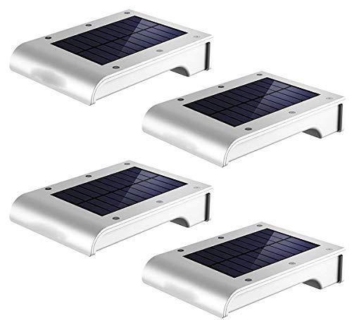 Comprajunta 2 Pack 72 LED-Chips, Outdoor-Wandlicht, 3,7 V 2,5 W 8Lm 6500K Solar Power 2200Mah, Wasserdicht IP65 Für Garten, Smart Tablet, Bewegungsmelder,4Pack