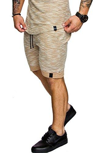 Amaci&Sons Herren Bermuda Shorts Sweatshorts 8002 Beige M