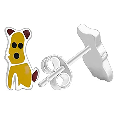 Costumes Dog Bee - Elensan Paire de petit Argent sterling Rose