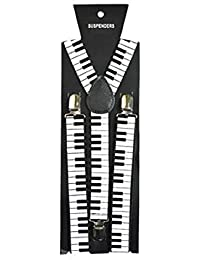 Skinny Braces Available In Colours And Designs (Black & White Piano Keys)