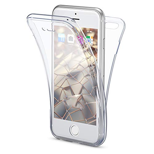 NALIA 360 Grad Handyhülle kompatibel mit iPhone 6 6S, Full Cover Vorne & Hinten Rundum Doppel-Schutz, Dünnes Ganzkörper Case Silikon Etui, Transparente Display Schutz-Hülle & Rückseite - Transparent