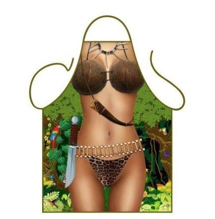 Damen Sexy Dschungel Jane Neuheit Schürze Eine Größe 76cm x (Kostüm Dschungel Jane)
