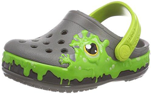 crocs Unisex-Kinder Fun Lab Slime Band Kids Clogs, Grau (Slate Grey), 32/33 EU