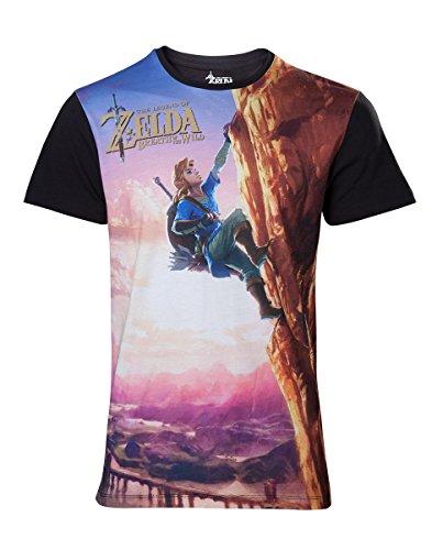 Zelda Breath of the Wild T-Shirt -XL- Link Climbing