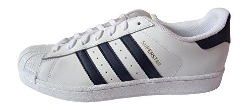 Adidas Originals Superstar Hommes Baskets Bb4200 Sneakers Chaussures (uk 9 Us 9.5 Eu 43 1/3, Ftwwht FTWWHT/NINDIG/FTWWHT BB4200