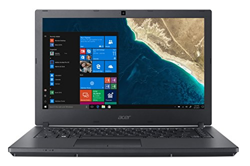 "Acer TravelMate P2 TMP2410-M-327E Notebook con Processore Intel Core i3-7130U, RAM da 4 GB DDR4, 1000 GB HDD, Display 14"" HD LED LCD, Scheda Grafica Intel HD 620, Windows 10 Professional, Nero"