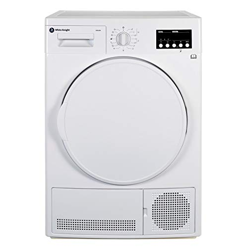 White Knight B96V8W 8kg Sensor Condenser Tumble Dryer - Reverse Action