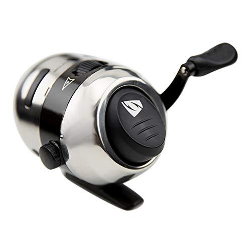 SHZJ Spincast Spinnrolle Angelrolle 2,8: 1 Mini Durable Bow Slingshot-Katapult Schießen Angeln Edelstahl Material Reel Wheel, Silver - Multi-licht-wand-halterung