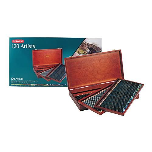 Derwent Artists Stifte in Holz-Box, 120 Stück