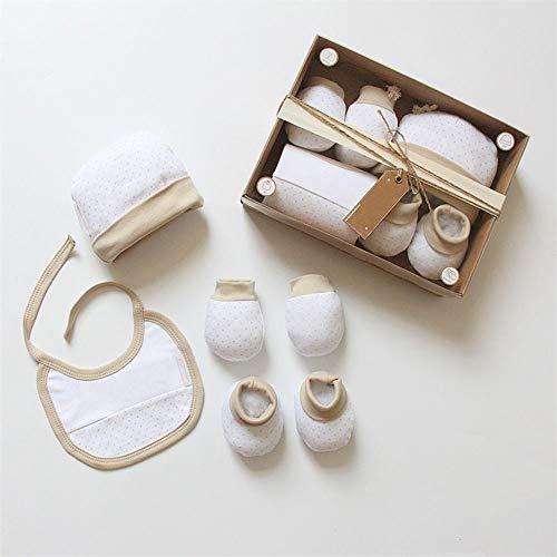 Gift box baby full moon neonato 4pcs high-end set guanti e cappello piedi copertura saliva asciugamano booties mittens cap bavaglino in cotone