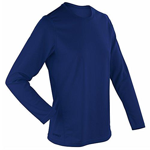 Spiro Womens Spiro quick dry long sleeve t-shirt Navy