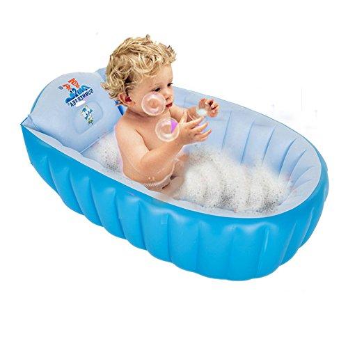 GreenSun Aufblasbare Neugeborene Kleinkind Babybadewanne Badewannensitz Tragbare Aufblasbare Badewanne Planschbecken Schwimmbecken für 0-3 Jahre Baby und Kleinkinder