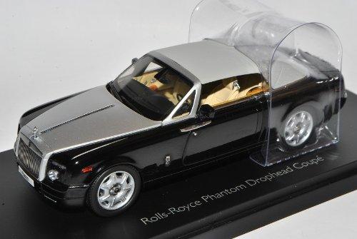 Kyosho Rolls Royce Phantom Drophead Coupe Schwarz 1/43 Modell Auto - Modell Phantom Rolls-royce
