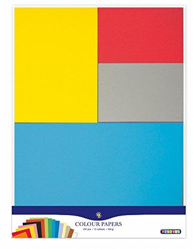 Playbox - Papel Coloreado (100gsm) 15 Colores, 195 Piezas, tamaño Mezclado - A3, A4, A5, A6 - (PBX2471194)