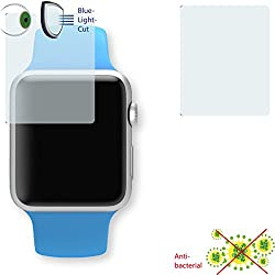 2 x DISAGU ClearScreen screen protection film for Apple Watch Sport 38mm antibacterial, BlueLight filter protective film (intentionally smaller than the display due to its curved surface)