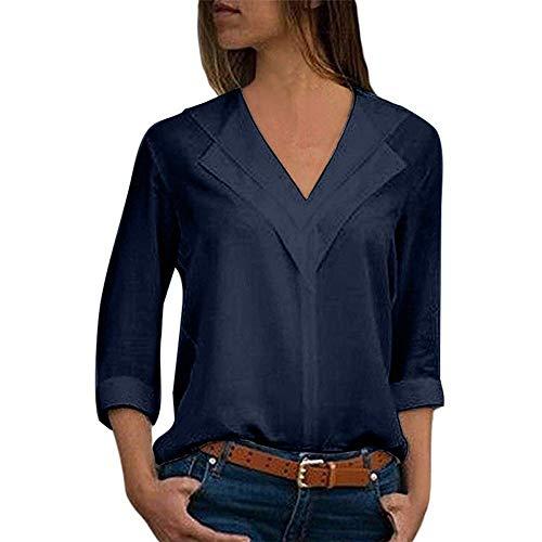 Blusa de Mujer, BaZhaHei, Camisa de Manga Larga para Mujer Formal Oficina Trabajo Uniforme Señoras Casual Tops para Mujer Camisetas...