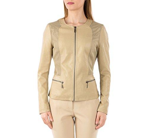 WITTCHEN Damen Lederjacke Damenjacke, Kunstleder, Leder, Beige, Größe:XL, (Kostüme Buttercup)