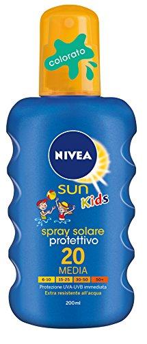 Nivea - Sun Kids Spray Solare Protettivo, Protezione Media 20 - 200 Ml
