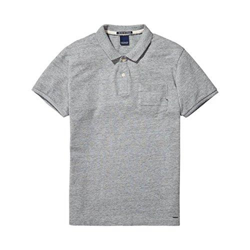 Scotch & Soda Amsterdams Blauw Poloshirt Herren grau Grau