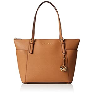 Michael Kors Jet Set Large Top-zip Saffiano Leather Tote – Bolso de hombro Mujer