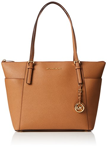 Michael Kors Jet Set Large Top-zip Saffiano Leather Tote, Sacs portés épaule