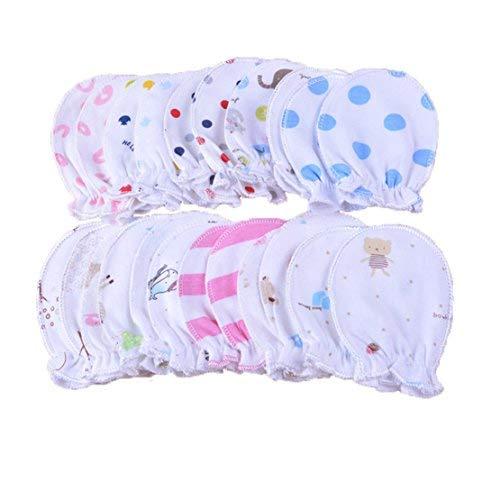 5 Paar Neugeborene Baby Fäustlinge Säugling Pastell Kratzer Baumwolle Fäustlinge 0-6 Monate (5 Paar)