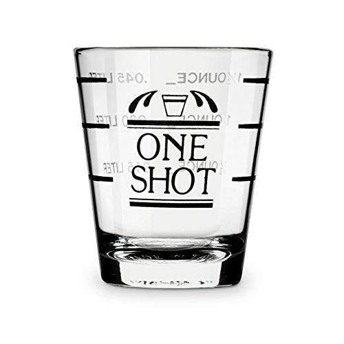 True 0400 bulk Bullseye Shot-Gläser farblos