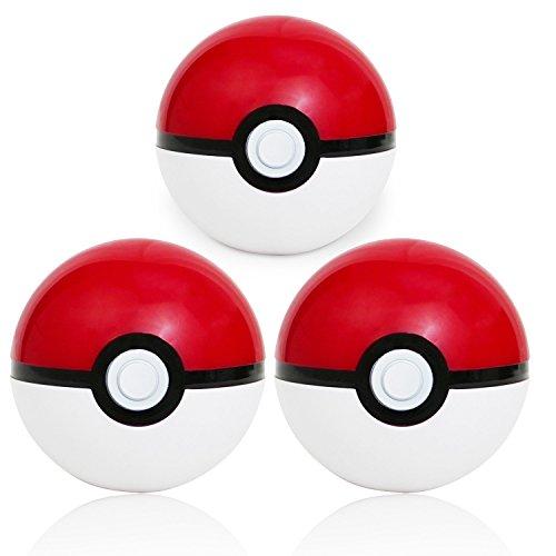 Katara - Poké Ball: Set de 3 Pokeballs en rouge et blanc...