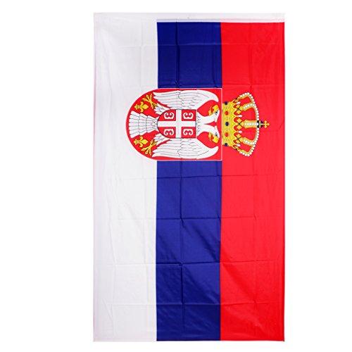 MagiDeal Flagge Fahne Serbien 90x150 cm Nationalflagge Nationalfahne